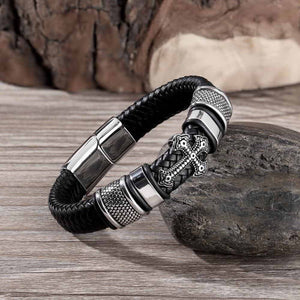 Faithful Leather Bracelet