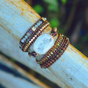 Diana Moonlight Agate Wrap Bracelet