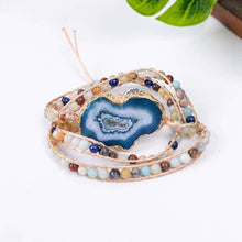 Load image into Gallery viewer, Clarity Blue Agate Bracelet