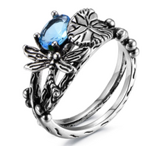 Load image into Gallery viewer, Dragonfly Lotus Ring