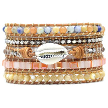Load image into Gallery viewer, Pearl Mix Stone Wrap Bracelet