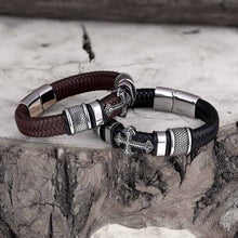 Load image into Gallery viewer, Faithful Leather Bracelet