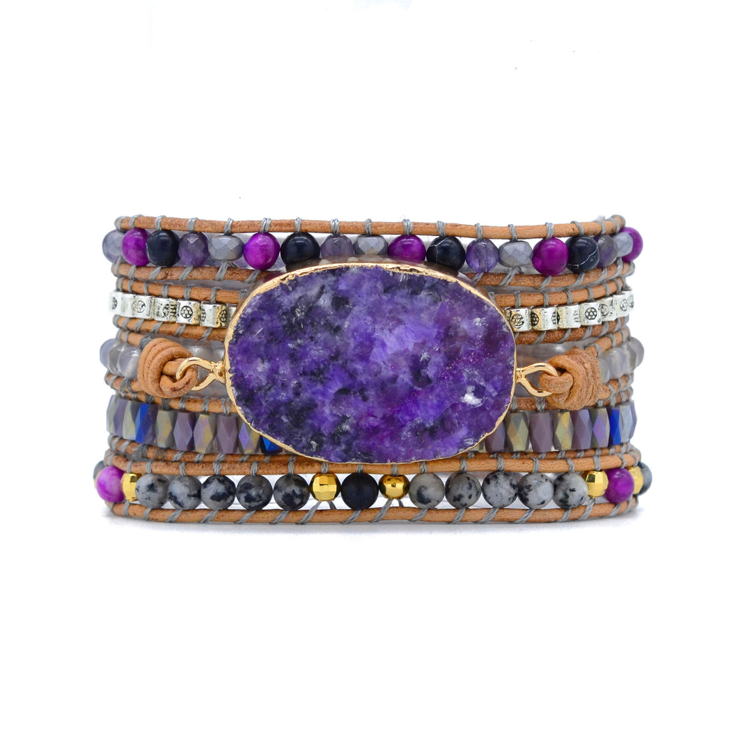 Purple Mica Bracelet