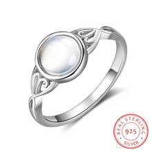 Load image into Gallery viewer, Elegant Moonstone Sterling Silver Ring