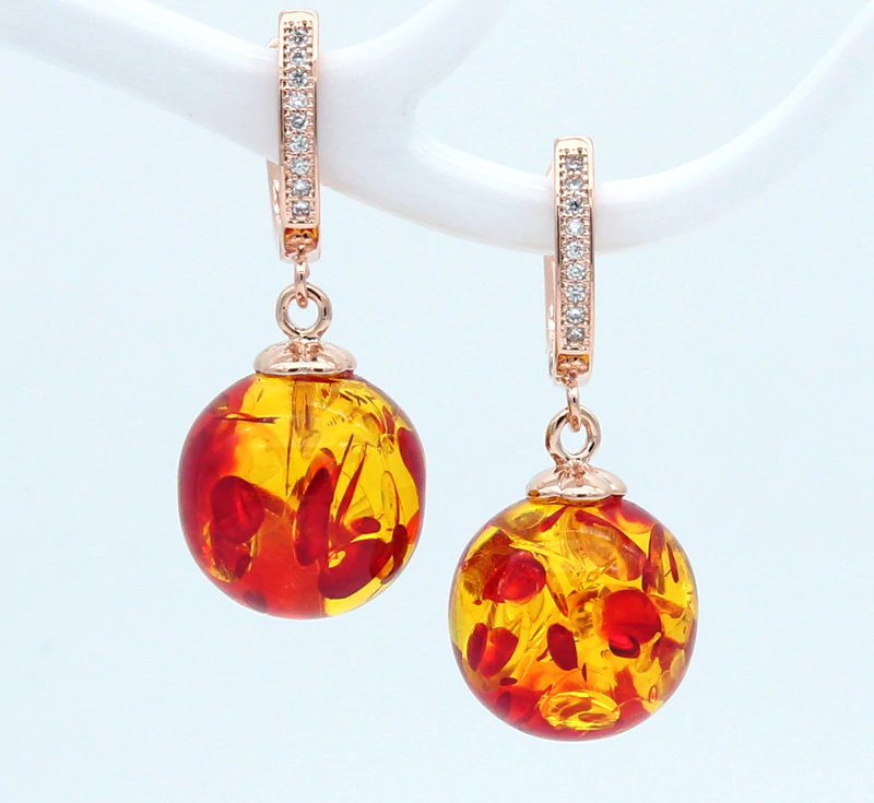 Spiritual Follow the Sun Amber Earrings