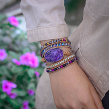 Load image into Gallery viewer, Purple Mica Bracelet