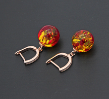 Load image into Gallery viewer, Spiritual Follow the Sun Amber Earrings
