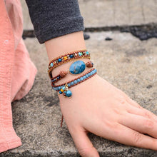 Load image into Gallery viewer, Happy Apatite Wrap Bracelet