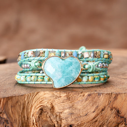 Mystical Amazonite Wrap Bracelet