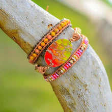 Load image into Gallery viewer, Spiritual Orange Passion Wrap Bracelet