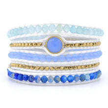 Load image into Gallery viewer, Spiritual Aquamarine Vegan Bracelet