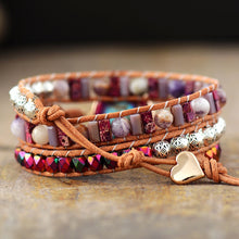 Load image into Gallery viewer, Imperial Jasper Protection Wrap Bracelet