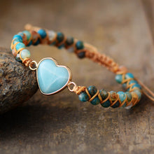 Load image into Gallery viewer, Spiritual Amazonite Heart Bracelet