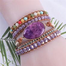Load image into Gallery viewer, Purple Jade Protection Bracelet