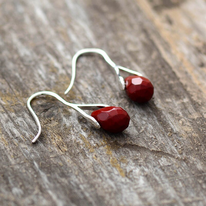 Red Jasper Drop Earrings