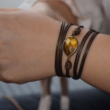 Load image into Gallery viewer, Spiritual Tiger Eye Wrap Bracelet