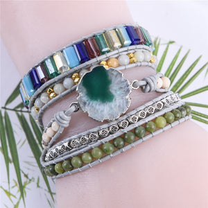 Joy of Life Green Agate Bracelet