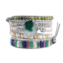 Load image into Gallery viewer, Joy of Life Green Agate Bracelet