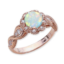 Load image into Gallery viewer, Flower Zirconia Opal Ring