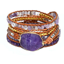 Load image into Gallery viewer, Spirit Amethyst Chakra Bracelet