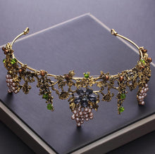 Load image into Gallery viewer, Handmade Gold Crystal Tiara