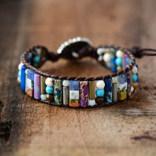 Load image into Gallery viewer, Natural Mixed Stone Tube Bracelet