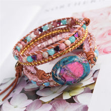 Load image into Gallery viewer, Shiny Emperor Jasper Wrap Bracelet