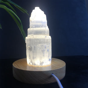 Spiritual Selenite Lamp