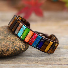 Load image into Gallery viewer, Spiritual 7 Chakra Tube Bracelet