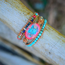Load image into Gallery viewer, Handmade Spirit Turquoise Energy Bracelet