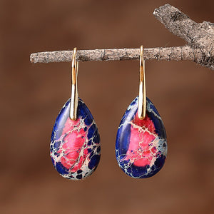 Vibrant Chakra Jasper Earrings