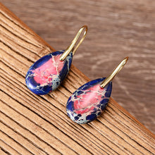 Load image into Gallery viewer, Vibrant Chakra Jasper Earrings