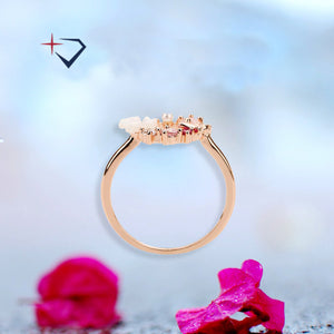 Happy Butterfly & Rose Ring