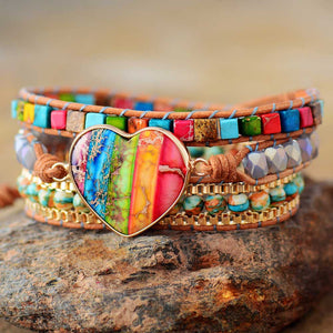 Happiness Rainbow Wrap Bracelet