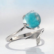 Load image into Gallery viewer, Pretty Mermaid Sterling Silver Ring