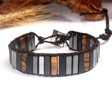 Load image into Gallery viewer, Protective Tiger Eye & Onyx Bracelet