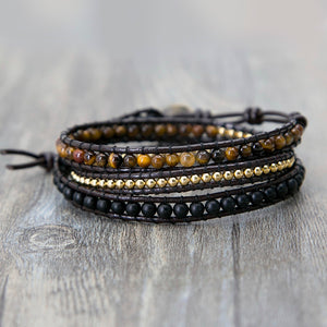 Powerful Tiger's Eye Beaded Bracelet
