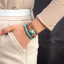 Load image into Gallery viewer, Turquoise Amazonite Wrap Bracelet