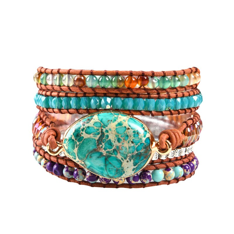 Jasper Protection Wrap Bracelet