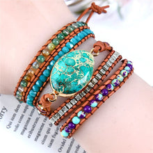 Load image into Gallery viewer, Jasper Protection Wrap Bracelet