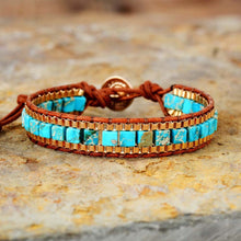 Load image into Gallery viewer, Turquoise Golden Warrior Bracelet