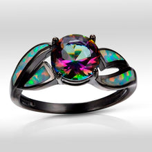 Load image into Gallery viewer, Spirit Cubic Zirconia Opal Ring