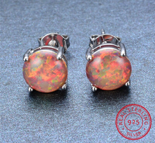 Load image into Gallery viewer, Spiritual Fire Opal Silver Earrings