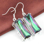 Rainbow Amethyst Silver Earrings