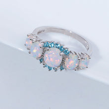 Load image into Gallery viewer, spiritual white opal silver ring