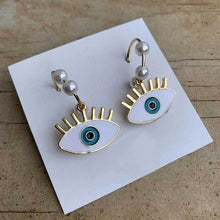 Load image into Gallery viewer, Spiritual Evil Eye Earrings