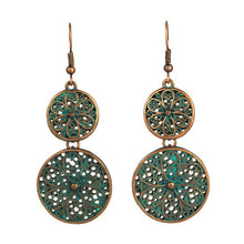 Load image into Gallery viewer, Turquoise Boho Earrings