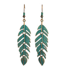 Load image into Gallery viewer, Turquoise Leaf Earrings