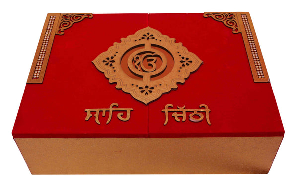 Sahi Chithi in Velvet Box - Indian Wedding Bazar