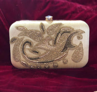 Designer soft gold clutch